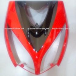 Cubierta de Faro Italika DS150 - Vento Phantom R5 - Carabela VX150 - Dream Siluete (Rojo c/ Negro Brillante)