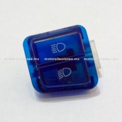 Boton de Luz Alta y Baja STD color Azul