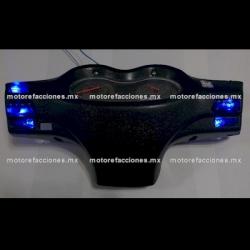 Jgo. Botones Motonetas color Azul con LED 12v