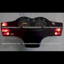 Jgo. Botones Motonetas color Rojo con LED 12v