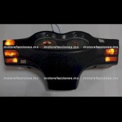 Jgo. Botones Motonetas color Naranja con LED 12v