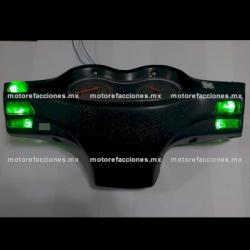 Jgo. Botones Motonetas color Verde con LED 12v