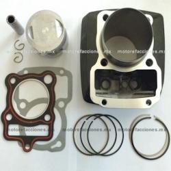 Kit de Cilindro Motocicleta - Italika EX200 / RT200 (negro)