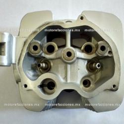 Cabeza de Cilindro Doble Escape p/ Custom Chinas 150 / 200cc (gris) - 2 Salidas para Escape