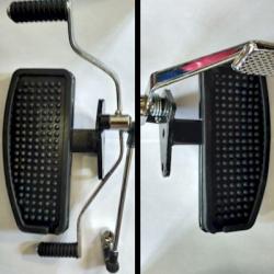 Jgo. Posa Pie para Motocicleta Custom (chanclas - par)
