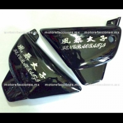 Cubiertas Laterales Motos tipo Custom 150 - Universales (negro)