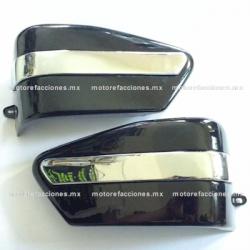 Par Cubiertas Laterales Custom 250 - Universales (negro) (par)