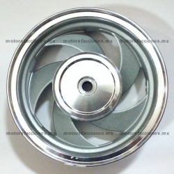 "Rin Delantero Italika CS125 / XS125 - Gris (10"" de 5 Brazos)"