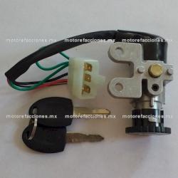 Switch Encendido Completo - Motonetas 50 y 90cc - (Conector 4 y 5 puntas)