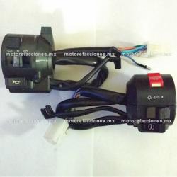 Mandos Universales - Motos tipo Custom (choper) - Italika TC250 / Kurazai Custom – Metalicos - (cromo)
