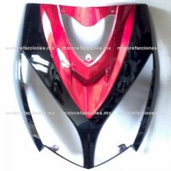 Cubierta de Faro Motoneta Italika DS150 - Vento Phantom R5 - Carabela VX150 - Dream Siluete (Negro Brillante c/ Vino)