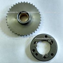 Bendix de Arranque Completo - Dinamo - Toromex 250cc (motor en linea) - 80mm