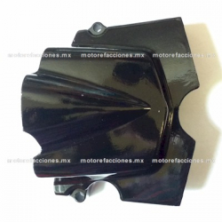 Tapa Carter Trasera Izquierda - Italika FT150 / FT150GT (negro)
