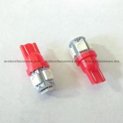 Foco Pellizco Rojo Hiper-LED 12v de 5 unidades - (Blister 2 pzas)