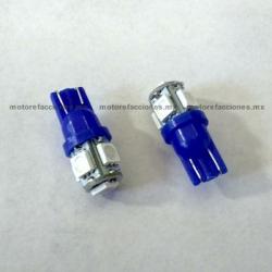 Foco Pellizco Azul Hiper-LED 12v de 5 unidades - (Blister 2 pzas)