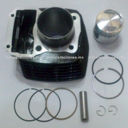 Kit de Cilindro Motocicleta - Italika FT150 - Custom Chinas 150cc (negro) - (Pistón Largo)