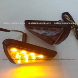 Direccionales Universales Triangulares LED Ambar de Sobreponer (par)