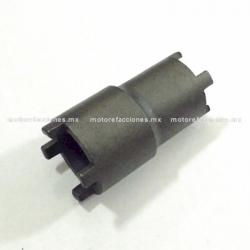 Dado Castillo Doble CR-V (20/23mm - 1/2) para Bomba de Aceite Motocicletas - Italika FT125 / FT150