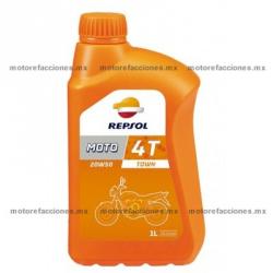 Aceite Repsol Multigrado SAE 20W50 Tipo JASO T903 - Especial Motos 4T (1 Lt)