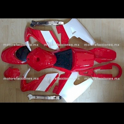 Cubiertas Completas Pocket (Pistera) Rojo