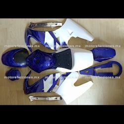 Cubiertas Completas Pocket (Pistera) Azul c/ Blanco