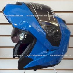 Casco Integral Abatible c/ Lente Interno Obscuro - JK111W (azul) talla G