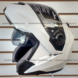 Casco Integral Abatible c/ Gafas - JK110W (blanco) talla XG