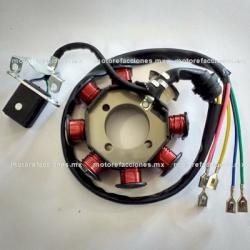 Estator 8 bobinas AC Italika FT125 / FT150 / DM150 / DM200 / DT150 / 150Z