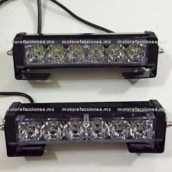 Estrobos de LED Grandes (juego) Blancos - 12v