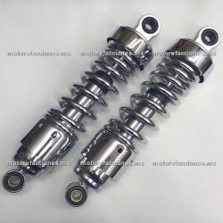 Amortiguadores Traseros Cortos Motos Custom 250 - Dinamo - Toromex (motor en línea)
