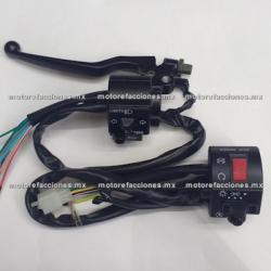 Mandos Universales - Motos tipo Custom (choper) Acelerador Doble y Ahogador - (negro)