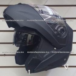 Casco Integral Abatible c/ Gafas CERTIFICADO - (negro mate) talla L