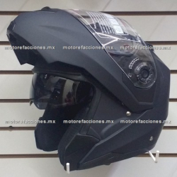 Casco Integral Abatible c/ Gafas CERTIFICADO - (negro mate) talla XL