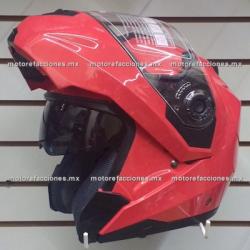 Casco Integral Abatible c/ Gafas CERTIFICADO - (rojo) talla M