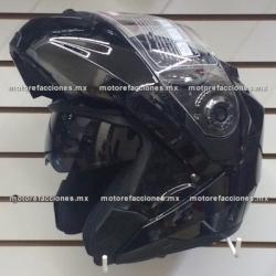Casco Integral Abatible c/ Gafas CERTIFICADO - (negro brillante) talla L