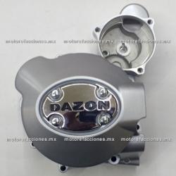 Tapa de Carter Izquierda - Italika FT125 / FT125 Sport / FT150 / FT150GT - Motocarro Dazon 200 (gris)