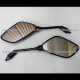 Espejos Negros Grandes (8mm) - Motonetas Suzuki / Carabela / Islo