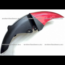 Salpicadera Delantera Italika RT200 GP (negro brillante con rojo)