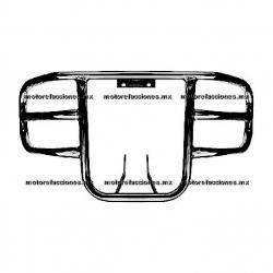 Defensa Universal Frontal Motocicletas - Italika - Honda - Yamaha - Dinamo - (Negro Mate)