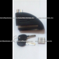 Candado p/ Disco Negro - Alarma 110 dB - A prueba de Agua y Cortes