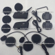 Auricular Bluetooth Stereo p/ Casco Moto - GPS - Musica - Llamadas - Radio