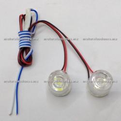 Jgo. Estrobos Hiper-LED Chicos Blancos - 12v