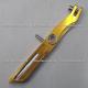 Parador Lateral Aluminio Universal - Amarllo / Dorado