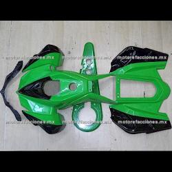 Cubiertas Completas Pocket (Mini Cuatrimoto) Verde c/ Negro