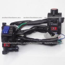 Mandos Universales - Motos tipo Custom (choper) - Acelerador Doble y Ahogador – Metalicos - (negro mate)