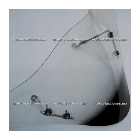 Parabrisas de Cubierta de Manubrio (Antifaz) Motoneta Italika DS150 / XS150 - Dream Siluete - Islo Warrior (Negro Mate)