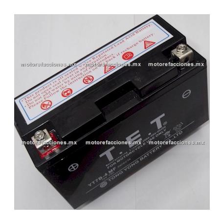 Bateria YT7B- (YT7B-BS) Gel (12V-6.5Ah) - - - BWS125 / BWS125 Motard