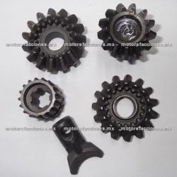 Engranes de Reversa Motocarro Dazon 150 a 200cc - 13 Dientes - Juego Completo