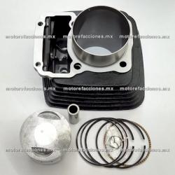 Kit de Cilindro - Italika FT200 / DT200 / DM200 (negro)
