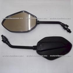 Espejos Negros Grandes (10mm) - Italika 125Z